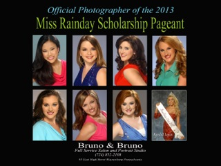 Front Row: (l to r)Tanya Phillips, Morgan Voithofer, Lilly Myers – Crown Bearer, Amanda Frampton. 2nd Row: (l to r) Carly Riggi, Kendall Lewis – Miss Rain Day, Stephanie Mitchell. 3rd Row: (l-r)Allie Christopher, Leslie Tift, Elissa McCracken – Miss Ohio 2012.